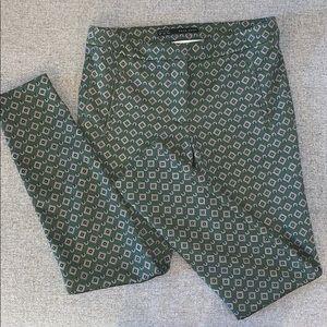 Zara Skinny Patterned Pants Size XS